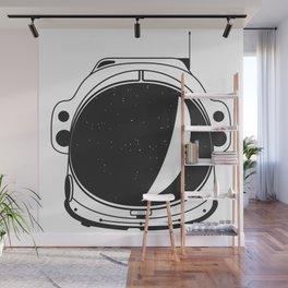 Cosmonaut helmet Wall Mural