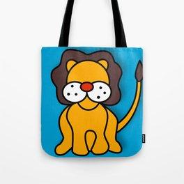 LION on Blue (Digital Version) Tote Bag