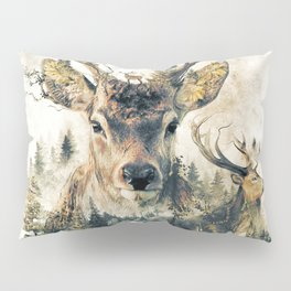 Deer Surrealism Pillow Sham