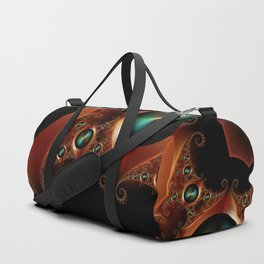 Brushed Metal Discs Duffle Bag