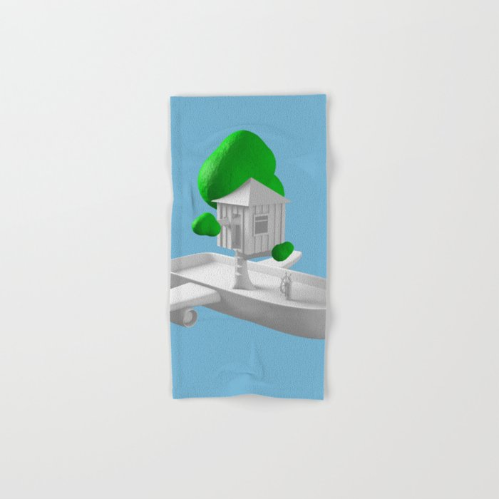 Tree House Boat Hand & Bath Towel