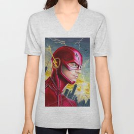 Barry Allan-THE FLASH Unisex V-Neck