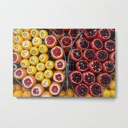 Istanbul fruit stand Metal Print