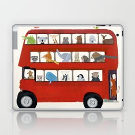 the big little red bus Laptop & iPad Skin