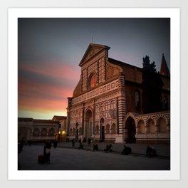 Santa Maria Novella Sunset Art Print