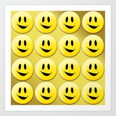 Smiley Smileys! Art Print