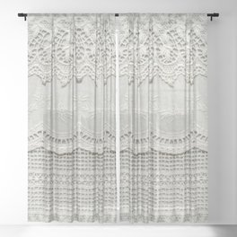 Beautiful, subtle, white laced textile close up. Good for bedroom, fashion, cloth, apparel, interior, folk, textile, ornament or background design. More of this motif & more textiles in my port. Sheer Curtain