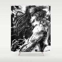 She-Hulk Smash Shower Curtain