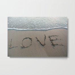 Love the Beach Metal Print