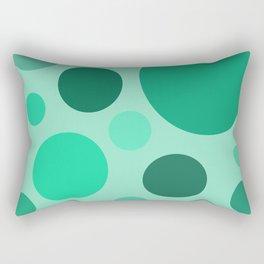 Green Circle Pattern Rectangular Pillow