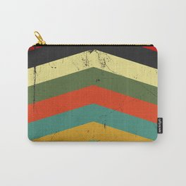 Grunge chevron Carry-All Pouch