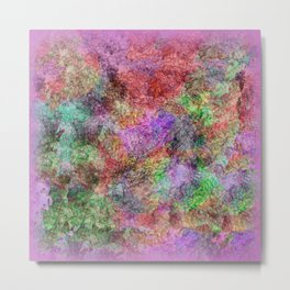Colorful Abstract Water Color Misty Swirls Design Metal Print