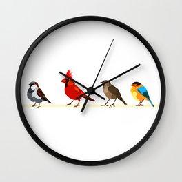 Little birds. Spring. Wall Clock