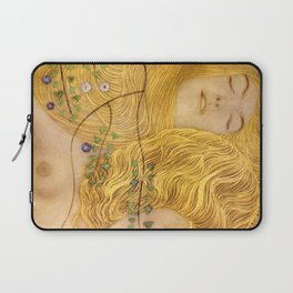 Gustav Klimt - Water Serpents, 1 (detail) Laptop Sleeve
