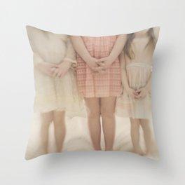 pretty little maidens Throw Pillow