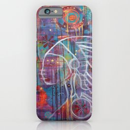 The Spirit of the Shaman, Original Artwork by Toni Becker of Artfully Healing iPhone Case