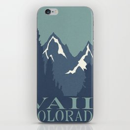 Rocky Mountains, Vail, Colorado Papercut iPhone Skin
