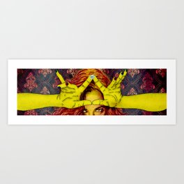 my crown while I shape it Art Print