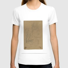 Auberge France Sketch ca. 1949 by Dorothy Messenger T-shirt