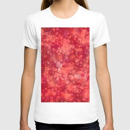 Sparkling glowing hearts B T-shirt