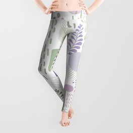 Close to Nature - Simple Doodle Pattern 1 #handdrawn #pattern #nature Leggings