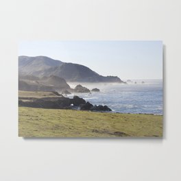 Sunny day on the Pacific Coast Highway Metal Print