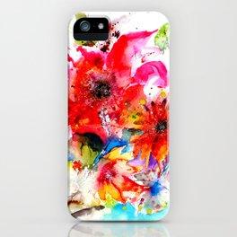 Watercolor garden II iPhone Case