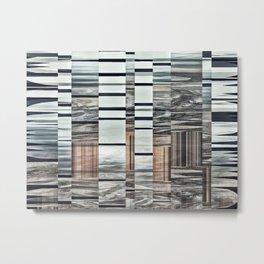 Coded Terrain Metal Print