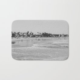 Wavy Day at Pacific Beach Bath Mat