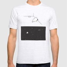 A cat's mind LARGE Mens Fitted Tee Ash Grey