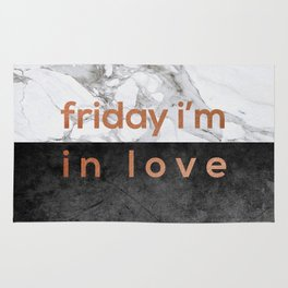 Friday I'm in Love Copper Rug