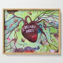I Heart Bees Serving Tray