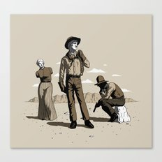 Stone-Cold Western Canvas Print