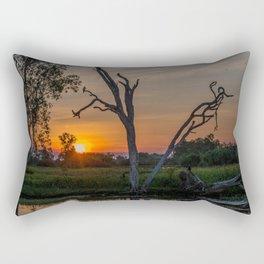 Sunset over Billabong Rectangular Pillow