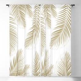 Palm Leaves - Gold Cali Vibes #3 #tropical #decor #art #society6 Blackout Curtain