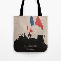 les mis Tote Bags featuring Les Misérables by Abbie Imagine