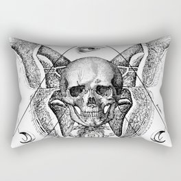 Engraving - Moth Rectangular Pillow