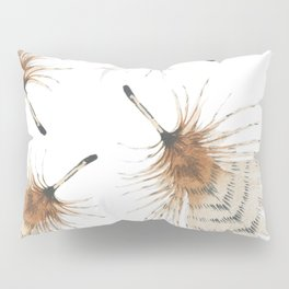 Delicate Brown Feather Seamless Pattern Pillow Sham