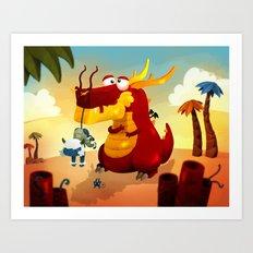 Dragonnet Rouge Art Print