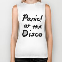 panic at the disco Biker Tanks featuring Panic! At The Disco by Stephanie Janeczek
