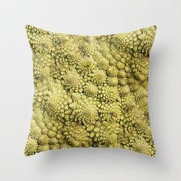 Natural fractals of Romanesco broccoli Throw Pillow