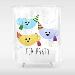 Tea Party Shower Curtain