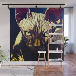sphynx cat from hell vafn Wall Mural