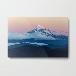Alpenglow Mt Hood Metal Print