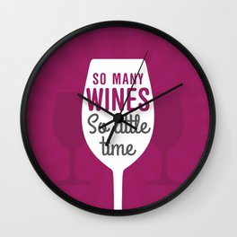So Many Wines Wall Clock
