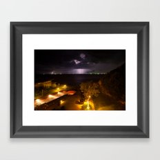 Storm on my paradise Framed Art Print
