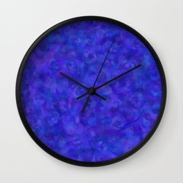 Royal Blue Floral Abstract Wall Clock