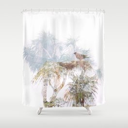 Where the sea sings to the trees - 10 Shower Curtain