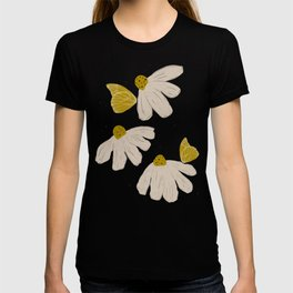 Chamomile Butterfly Grey and Yellow T-shirt