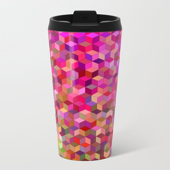 Girly cube structure Metal Travel Mug